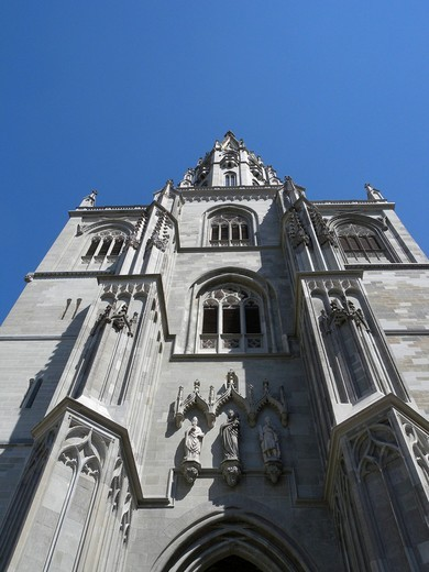Stock Photo: 1848-406911 Spire of the Cathedral of Constance, Konstanz, Lake Constance, Baden_Wuerttemberg, Germany, Europe