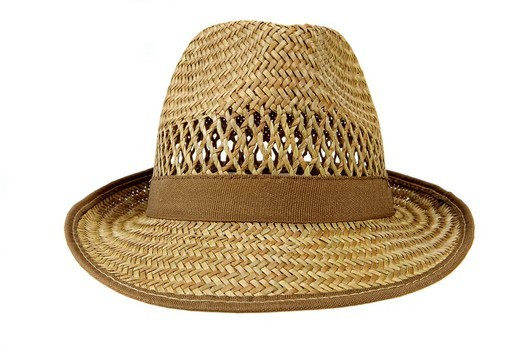 Straw hat for men : Stock Photo