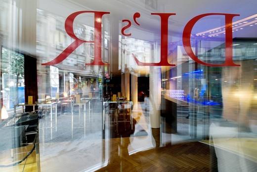 Stock Photo: 1848-407282 De las Letras Restaurant, Madrid, Spain