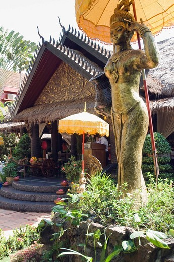 Stock Photo: 1848-407350 Garden, Bopha Angkor Hotel, Siem Reap, Cambodia, Indochina, Southeast Asia, Asia