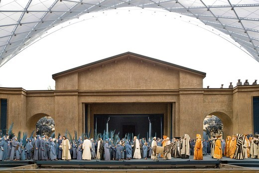 Entry into Jerusalem, Passion Play 2010, Oberammergau, Bavaria, Germany, Europe : Stock Photo