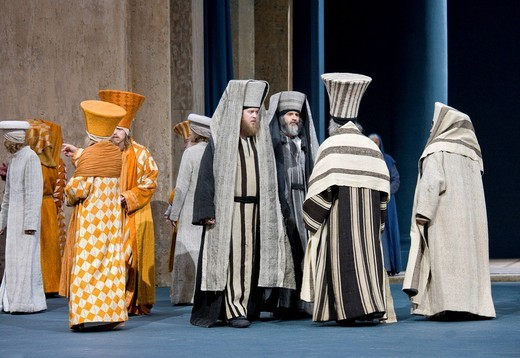 High priests, high council, scribes, Passion Play 2010, Oberammergau, Bavaria, Germany, Europe : Stock Photo