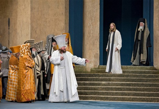 Caiaphas and Jesus, Passion Play 2010, Oberammergau, Bavaria, Germany, Europe : Stock Photo