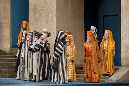 Stock Photo: 1848-407701 The high priests and scribes, Passion Play 2010, Oberammergau, Bavaria, Germany, Europe