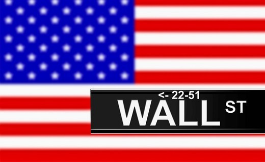 Stock Photo: 1848-408236 Symbolic image for the stock market and Wall Street, New York, USA