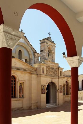 Moni Kalivianis convent, orphanage, girl boarding school and retirement home, Crete, Greece, Europe : Stock Photo