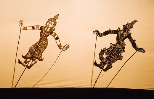 Shadow play, Siem Reap, Cambodia, Indochina, Southeast Asia, Asia : Stock Photo