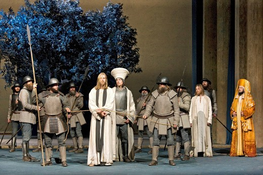 Stock Photo: 1848-408762 Jesus is taken prisoner by the soldiers, Passion Play 2010, Oberammergau, Bavaria, Germany, Europe