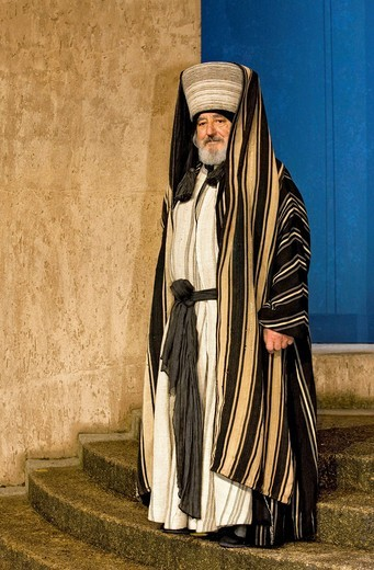 Actor performing in passion play, Passion Play 2010, Oberammergau, Bavaria, Germany, Europe : Stock Photo