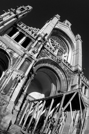 Stock Photo: 1848-409256 Church near the fish market, Brussels, Belgium, Europe
