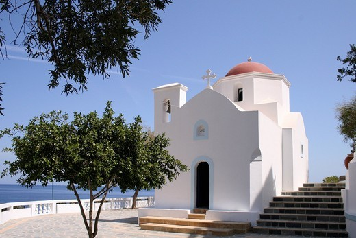 Marian Chapel, Kira Panagia, Karpathos island, Aegean Islands, Aegean Sea, Dodecanese, Greece, Europe : Stock Photo