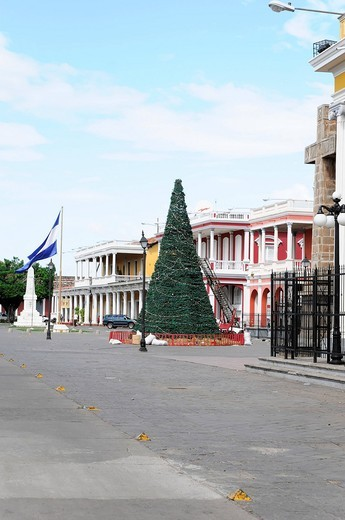 Stock Photo: 1848-409941 Christmas tree 2009 at the Park Central, Granada, Nicaragua, Central America
