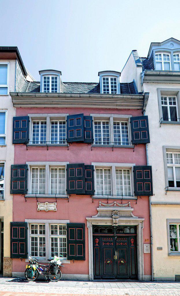 Stock Photo: 1848-410617 The Beethovenhaus museum, Bonn, North Rhine_Westphalia, Germany, Europe