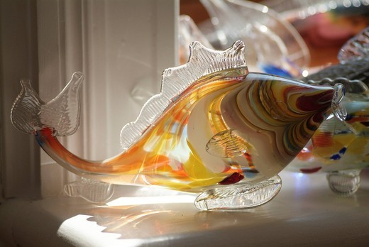 Stock Photo: 1848-410796 Fish made of stained glass, made by an artist