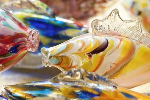 Stock Photo: 1848-410797 Fish made of stained glass, made by an artist