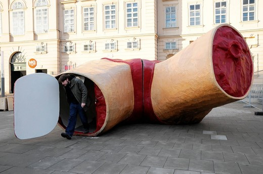 Art object on Maria Theresien_Platz, Vienna, Austria, Europe : Stock Photo