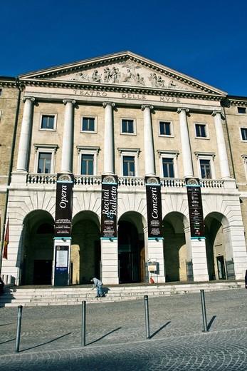 Teatro delle Muse theatre, 1827, neoclassical, architect Pietro Ghinelli, Ancona, Marche, Italy, Europe : Stock Photo
