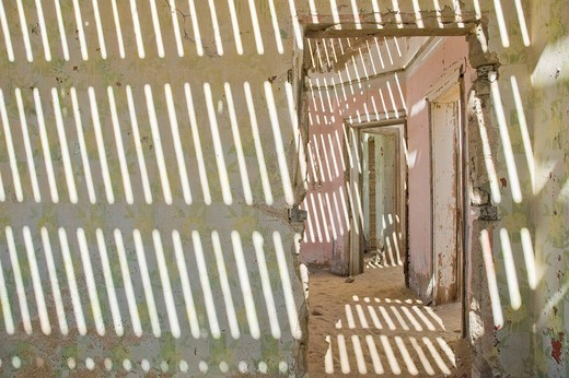 Kolmanskop, ghost town, former diamond mine near Luederitz, Namibia, South Africa, Africa : Stock Photo