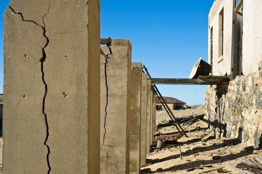 Kolmanskop, ghost town, former diamond mine near Luederitz, Namibia, South Africa, Africa : Stock Photo