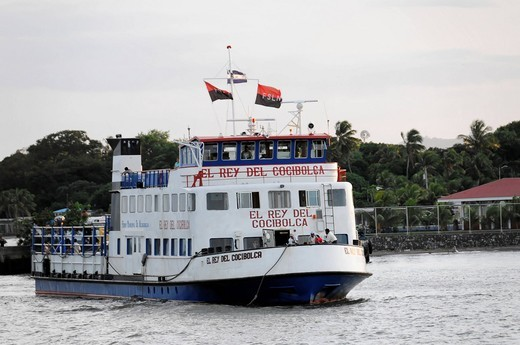 Ferry, El Rey del Cocibolca, during the journey to Ometepe Island, Lake Nicaragua, Nicaragua, Central America : Stock Photo