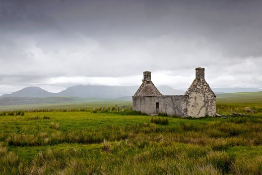 Stock Photo: 1848-411877 Old house in Main Ho in the north of Scotland, United Kingdom, Europe