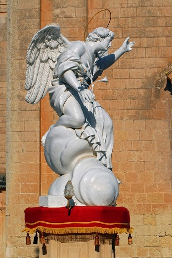 A white statue in Balzan, Malta, Europe : Stock Photo
