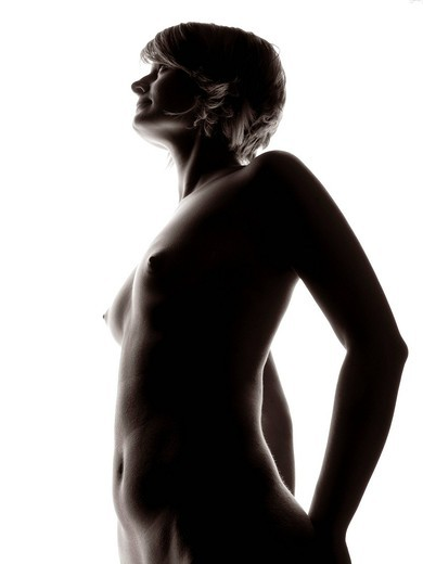 Woman, body, nude, silhouette : Stock Photo