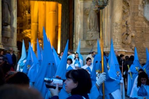 Penitents, Semana Santa, Holy Week, Palma de Majorca, Majorca, Balearic Islands, Spain, Europe : Stock Photo