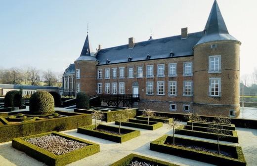 Stock Photo: 1848-415210 Alden Biesen Castle, garden front, Tongeren, Limburg, Belgium, Europe