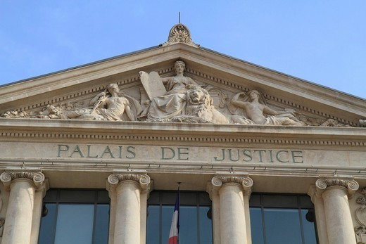 Stock Photo: 1848-415247 Tribunal d´Instance, Palais de Justice, Place du Palais, Nice, Alpes Maritimes, Région Provence_Alpes_Côte d´Azur, France, Europe