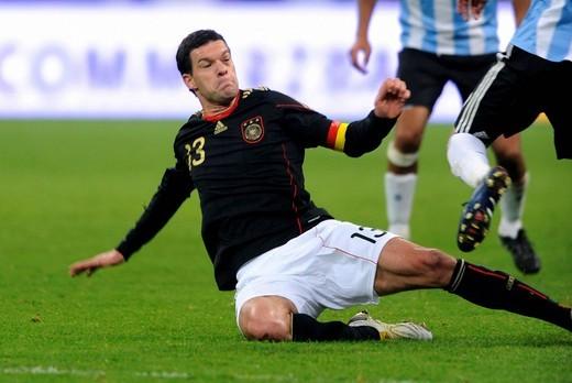 Stock Photo: 1848-415916 Michael Ballack, international football match, Germany _ Argentina 0:1, Allianz_Arena, Munich, Bavaria, Germany, Europe