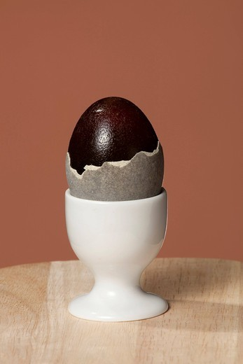 Thousand_year egg, preserved egg, century egg or Chinese egg : Stock Photo