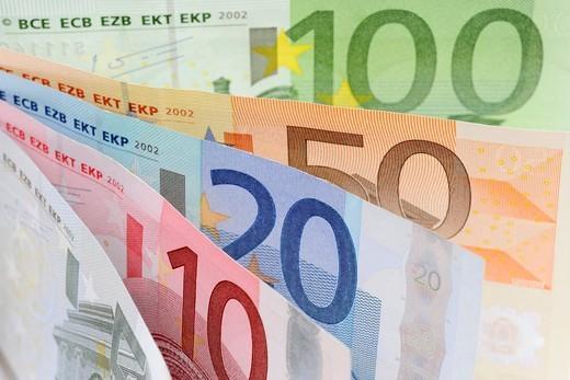 Stock Photo: 1848-416343 Bank notes, Euro
