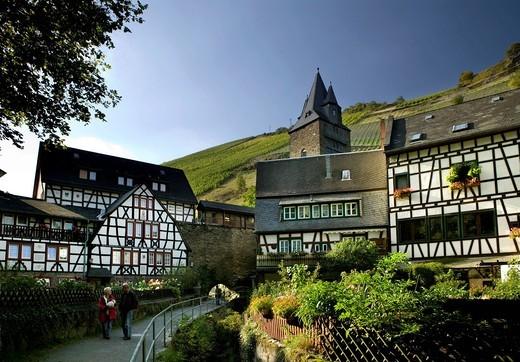 Bacherach, romantic Middle Rhine Valley, UNESCO World Heritage Site, Rhineland_Palatinate, Germany, Europe : Stock Photo