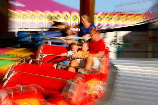 Carousel, folk festival, Muehldorf am Inn, Bavaria, Germany, Europe : Stock Photo