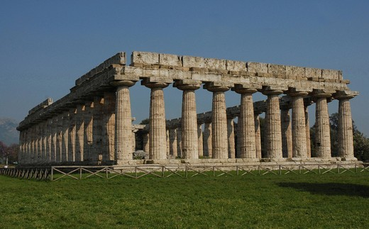 Temple of Hera in Paestum, Italy, Europe : Stock Photo