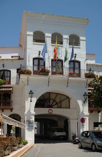 Stock Photo: 1848-417168 Ayuntamiento, town hall, Nerja, Province of Malaga, Andalusia, Costa del Sol, Spain, Europe