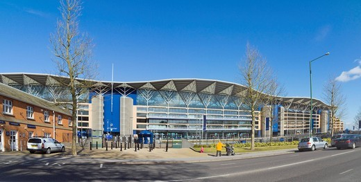 The new grandstand, completed in 2006, Ascot Racecourse, Berkshire, England, United Kingdom, Europe : Stock Photo
