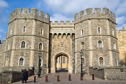 Henry VIII Gateway, Windsor Castle, Windsor, Berkshire, England, United Kingdom, Europe : Stock Photo