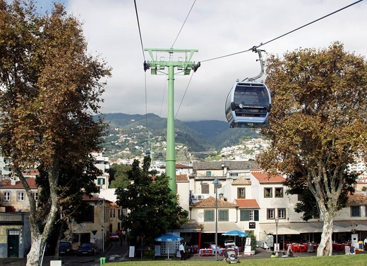 Cable car, Funchal, Madeira, Portugal, Europe : Stock Photo