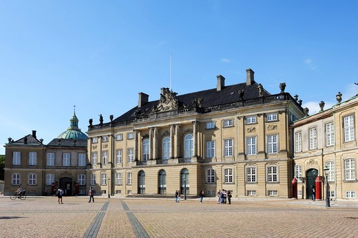 Stock Photo: 1848-419991 Amalienborg Castle, Copenhagen, Denmark, Scandinavia, Northern Europe