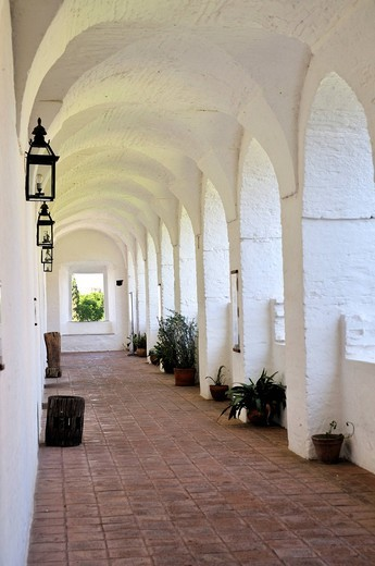 Stock Photo: 1848-420520 Arcade on the ranch on the Estancia of the Jesuits in Alta Gracia, UNESCO World Heritage Site, Cordoba, Argentina, South America