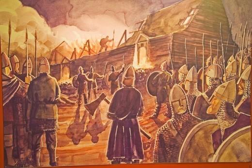 Stock Photo: 1848-420561 Picture, Viking, battle, Hella, Iceland, Europe