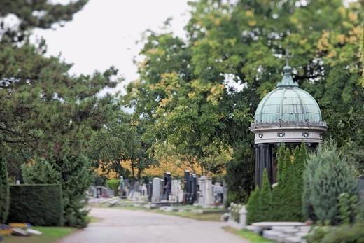 Vienna´s Central Cemetery, Vienna, Austria, Europe : Stock Photo