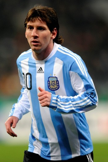 Lionel Messi, football match Germany vs. Argentina 0:1 in the Allianz_Arena, Munich, Bavaria, Germany, Europe : Stock Photo