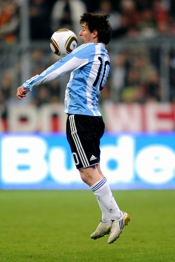 Stock Photo: 1848-421629 Lionel Messi, football match Germany vs. Argentina 0:1 in the Allianz_Arena, Munich, Bavaria, Germany, Europe