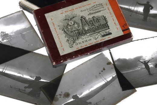 Stock Photo: 1848-422311 Old exposed silver bromide gelatin glass negatives