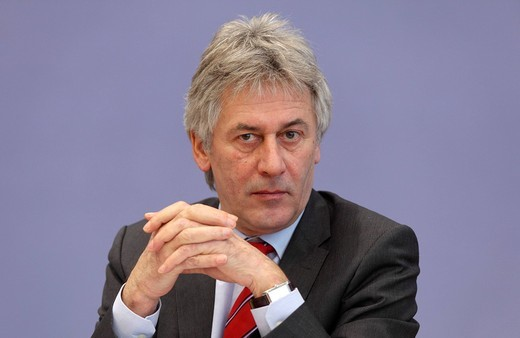 Dr. Bernhard Heitzer, state secretary in the federal ministry of economy and technology, Berlin, Germany, Europe : Stock Photo