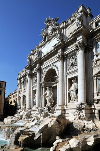 Stock Photo: 1848-423275 Fontana di Trevi, Trevi Fountain, Rome, Lazio, Italy, Europe