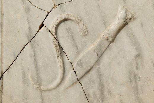 Old guild sign, symbol, Perga, Perge, southern Turkey, Asia : Stock Photo